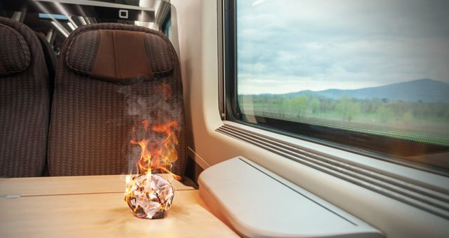 Fire protection for Rail vehicles